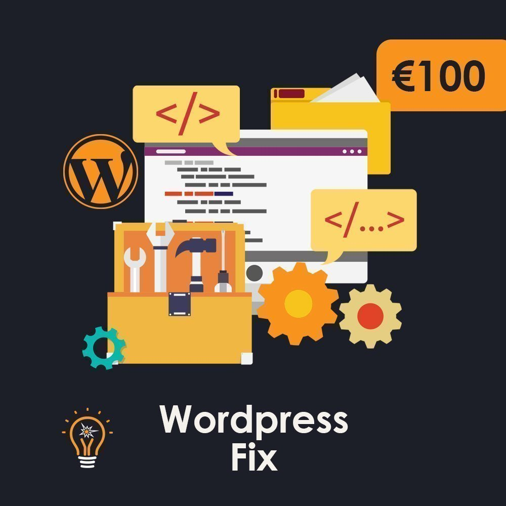 We fix bugs and errors in wordPress Website