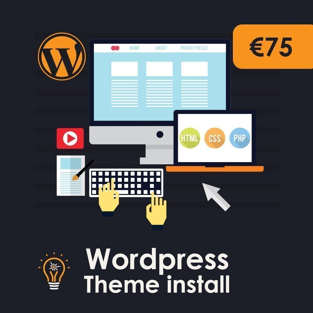 WordPress theme Install Service