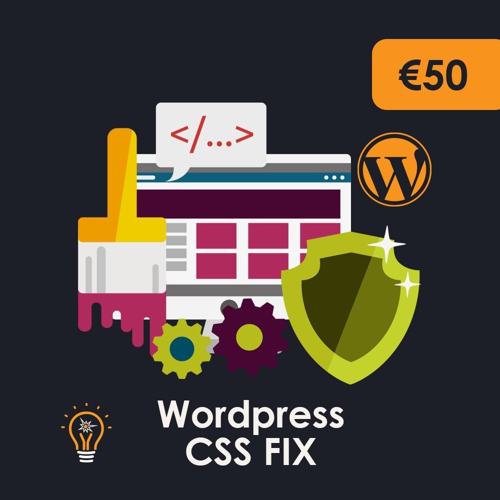 WordPress CSS fix of layout issues and errors